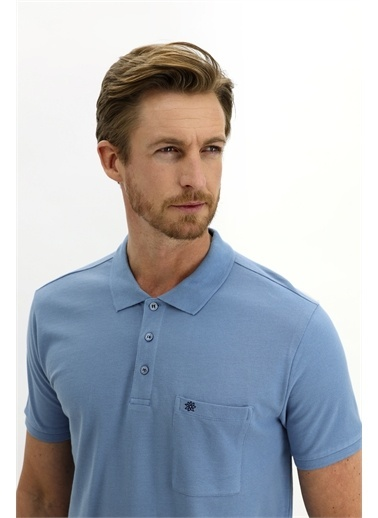 Kiğılı Tişört Mavi